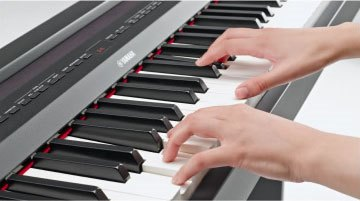 Yamaha p255 review - keyboard